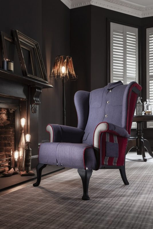 A unique and statement armchair for your home from Rhubarb London.