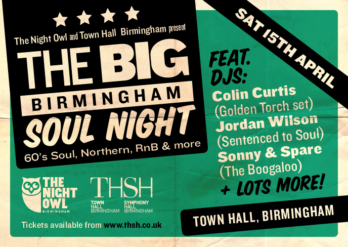 It's All About The Soul At Birmingham Town Hall For One Night Only.