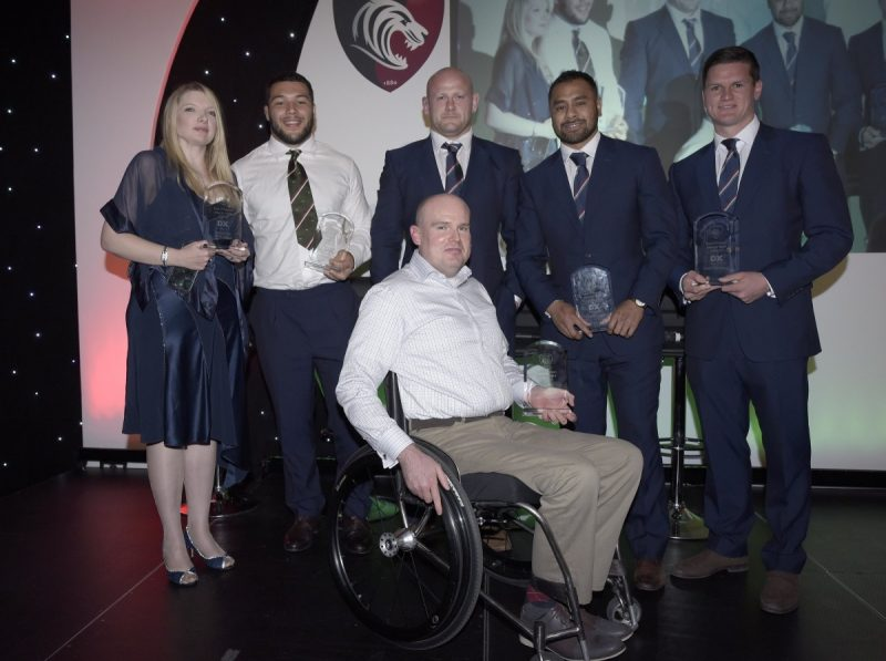 Leicester Tigers Supporters Honour Players Of The Year At Awards Evening.