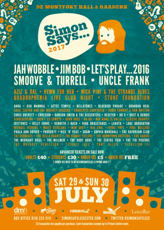 Full line-up now confirmed for Simon Says… 2017