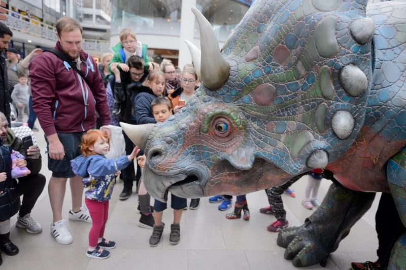 Life Size Triceratops spotted in Coventry's Lower Precinct!