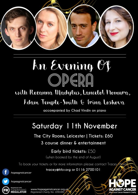 Hope Against Cancer present An Evening of Opera