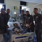 Aston Villa FC visit Birmingham Children's Hospital for festive treat