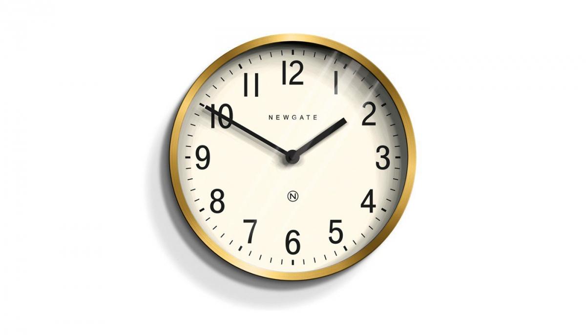 Newgate Master Edwards Wall Clock Brass, £60, Heal's
