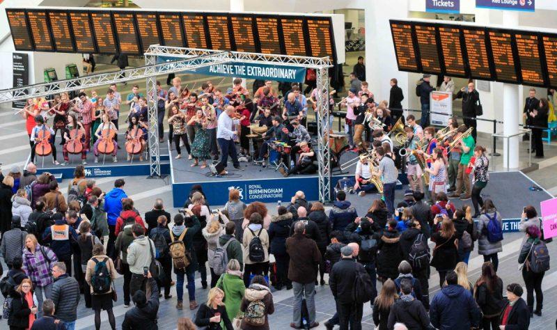 UK's biggest folk band pulls into central railway hub