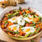 RECIPE: Asparagus, sweet potato and tomato shakshouka