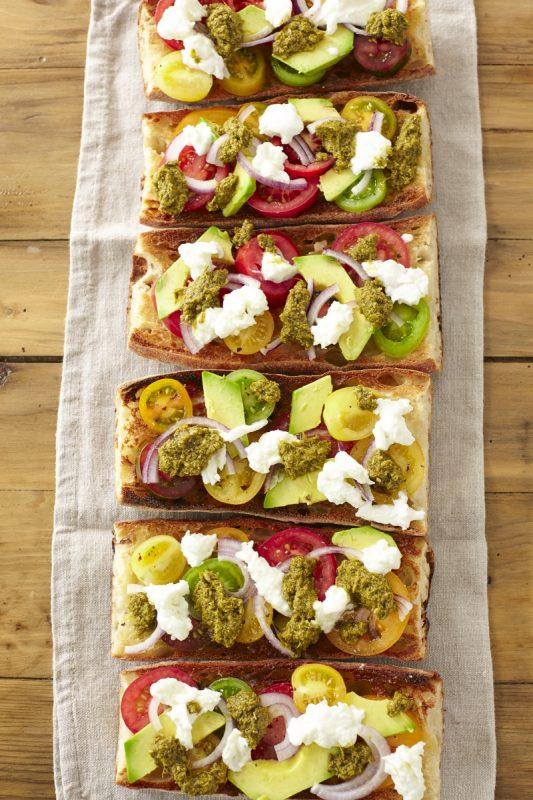 RECIPE: Avocado, Tomato and Pesto Bruschetta