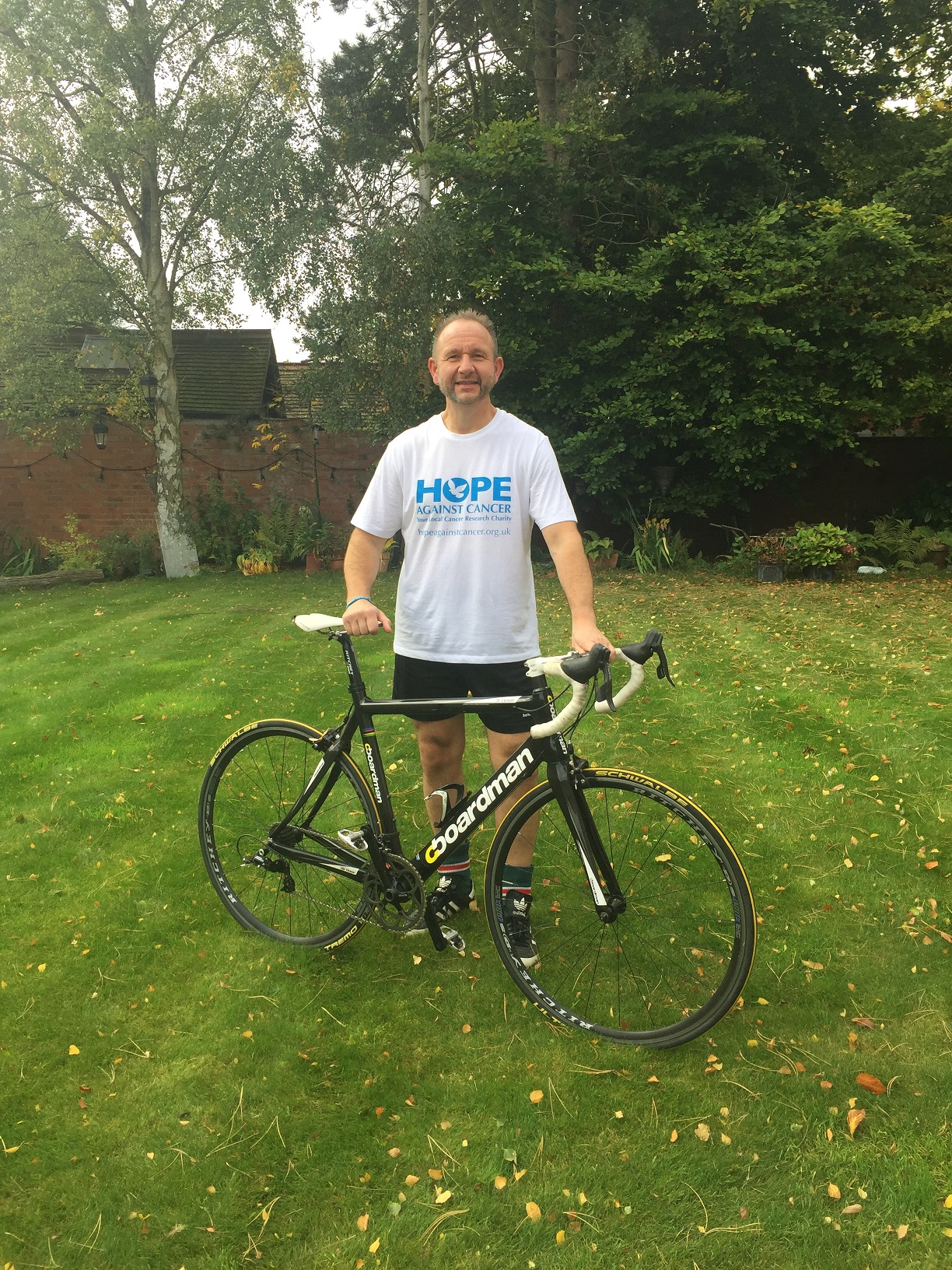 Cancer survivor and charity fundraiser Mark Mercala takes on sponsored 120 mile bike ride for Hope Against Cancer
