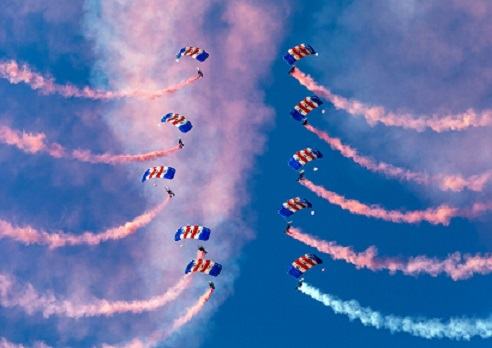 RAF Falcons centenary parachute display to grace Market Harborough next weekend