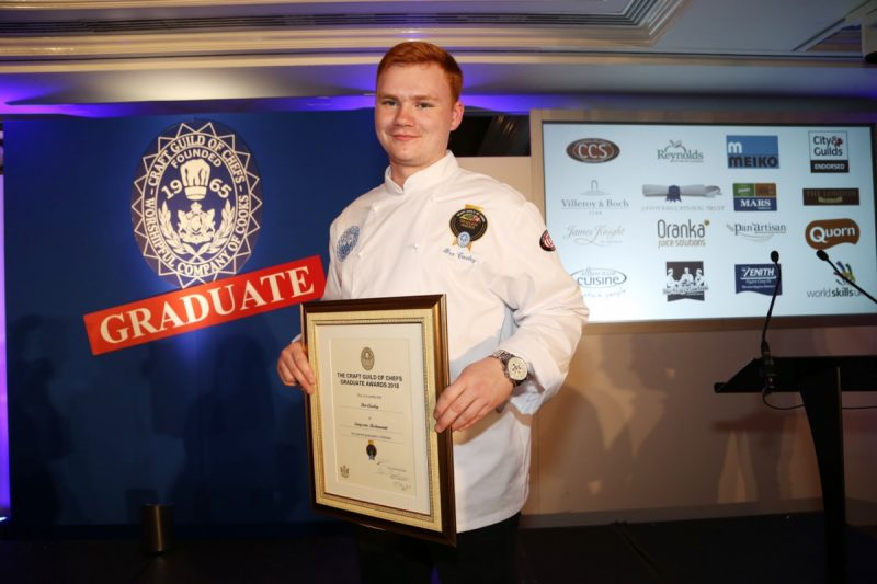 Simpsons Chef collects Graduate Chef Award