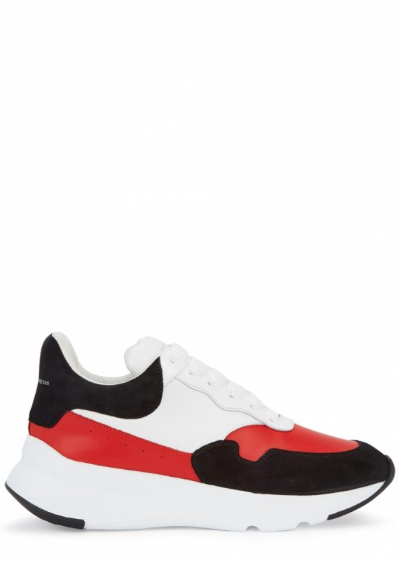 8a676dff8 Alexander McQueen Oversized Runner red and white leather trainers, £460