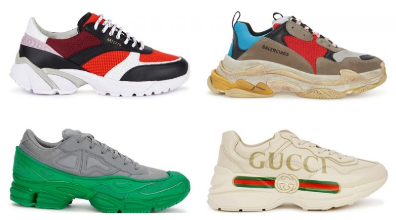 """f0a5fef92 The very latest sneaker trend for men and women, """"dad"""" trainers aren't  going anywhere fast. Thanks to the likes of Balenciaga, Valentino and Gucci  these ..."""