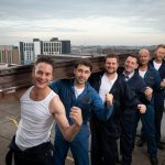 All-star Cast Of The Full Monty Light Up The Birmingham Skyline