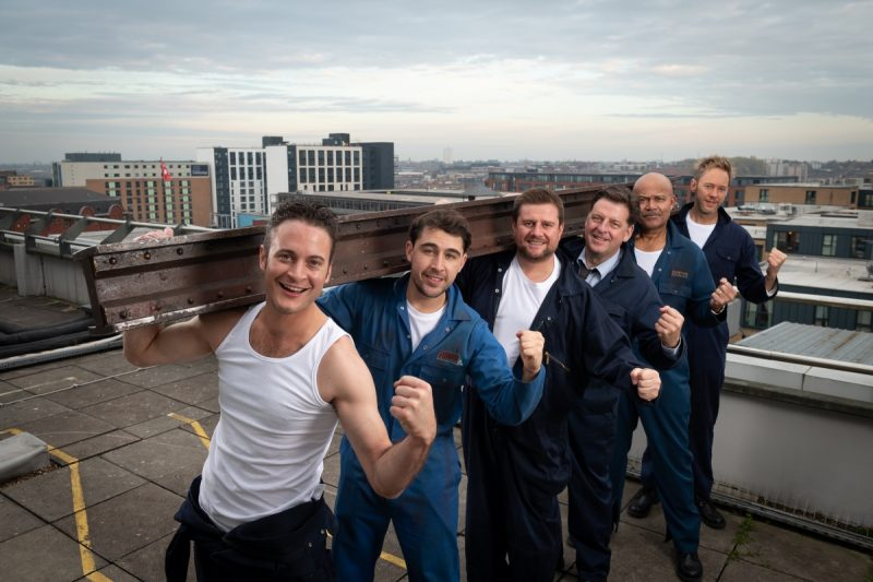 All-star Cast Of The Full Monty Light Up The Birmingham Skyline