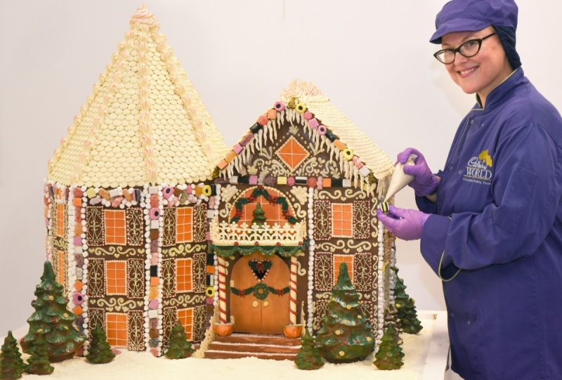 Cadbury World unveils chocolate gingerbread house for Christmas