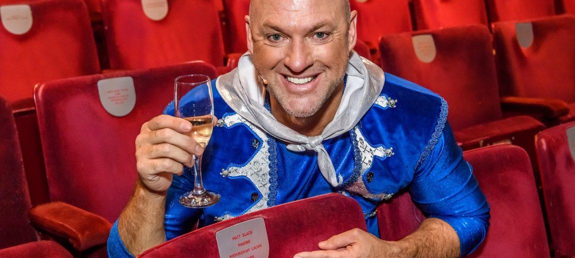 Panto Favourite, Matt Slack Honoured With Dedicated Seat at Birmingham Hippodrome