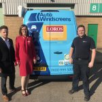 Auto Windscreens' Leicestershire vans get LOROS Hospice makeover