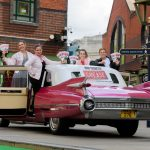 Grease is the word! 1959 pink Cadillac rolls  in to Birmingham