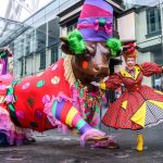 Panto Dame joins Bullring Bull in his glad rags