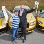 DAVID WALLIAMS BILLIONAIRE BOY COMES TO BIRMINGHAM WITH CAR PARK PARTY