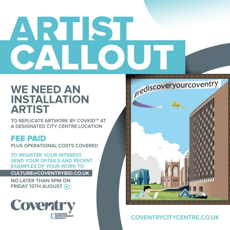 Coventry BID is, today, announcing a call out to city artists to register their interest in recreating a special piece of striking street art