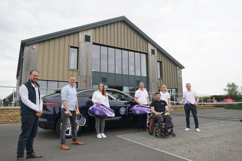 Sturgess Jaguar Leicester has served up a car-full of crucial tennis equipment to the Matt Hampson Foundation