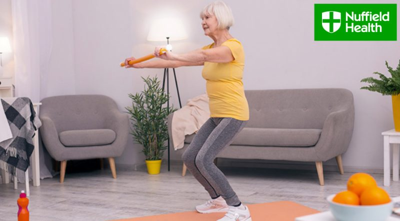 Stephen MacConville, Fitness Lead for Flagship Programmes at Nuffield Health gives us his top tips on how the over 70s can stay active during self-isolation.