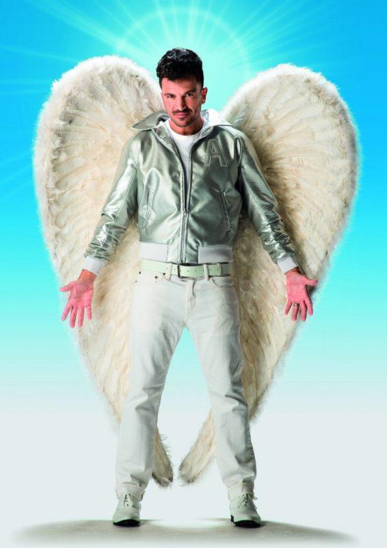 Peter Andre as Teen Angel in Grease - credit - Hugo Glendinning