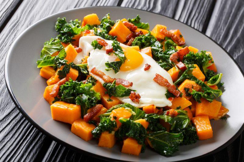 Crispy Kale and Sweet Potato Stir Fry
