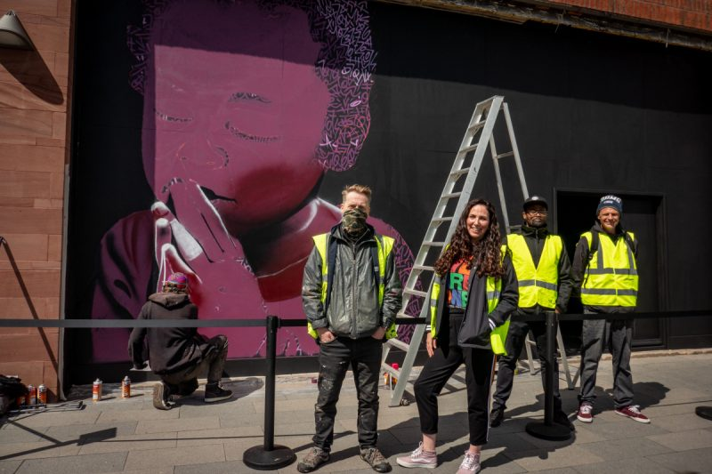 From May 2021, a new street art project, In Paint We Trust, has seen new artworks appearing in unique spaces across the city centre.